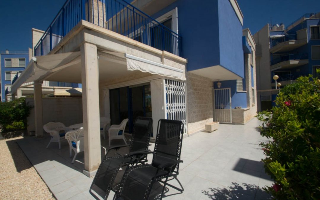 Three bedroom detached luxury front line villa for sale in Cabo Roig