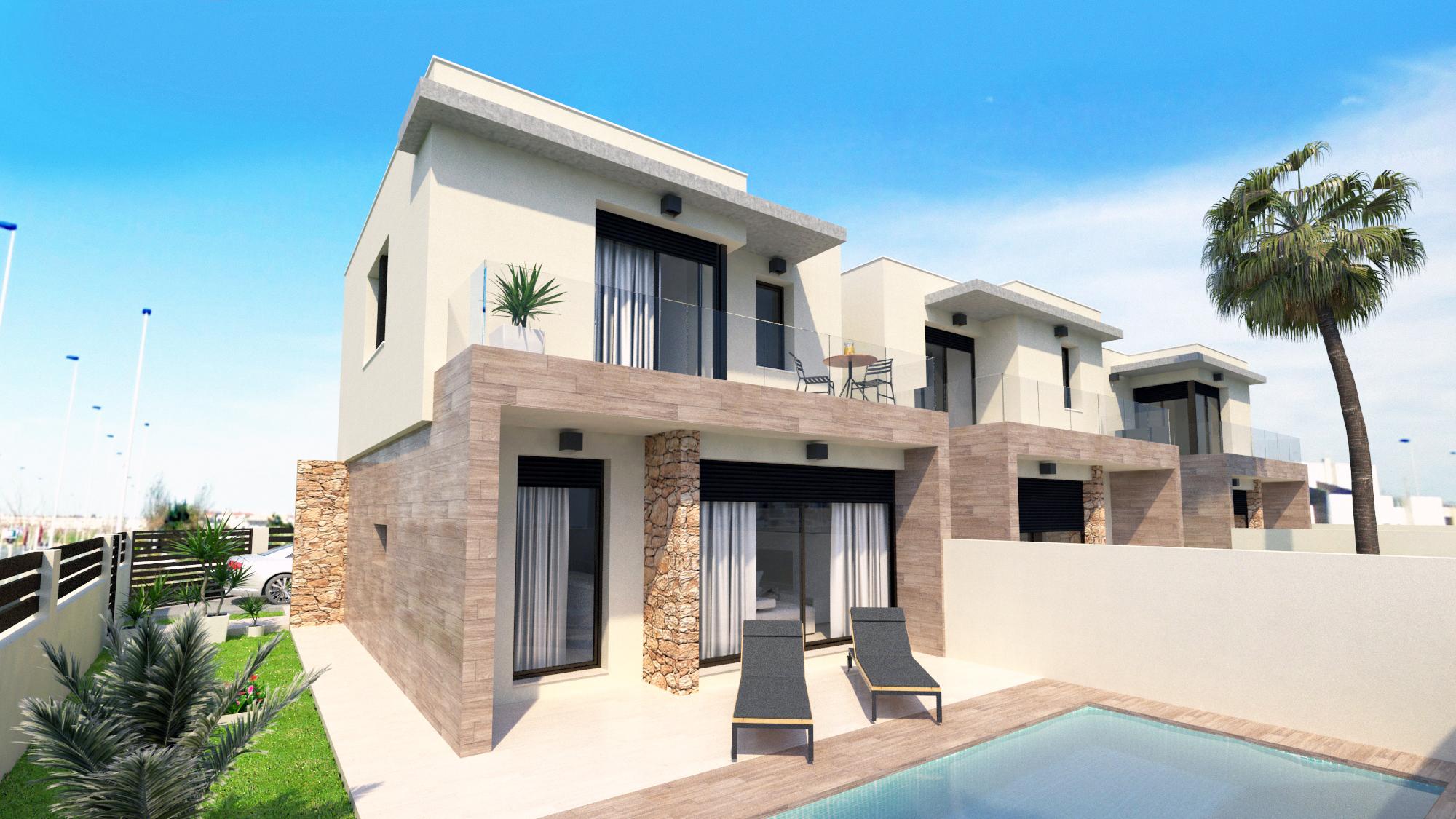 Three bedroom, three bathroom high quality new build property for sale in Torre de la Horadada