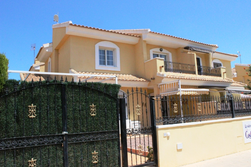 Three bedroom, two bathroom semi-detached property for sale on popular Playa Flamenca urbanisation