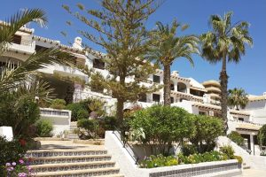 Two bedroom one bathroom South-facing top floor apartment for sale in Cabo Roig