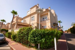 Beautiful three bedroom, two bathroom quad house for sale on popular Miraflores IV community in Playa Flamenca